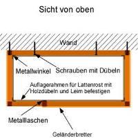 Hochbett bauen: Lattenrost
